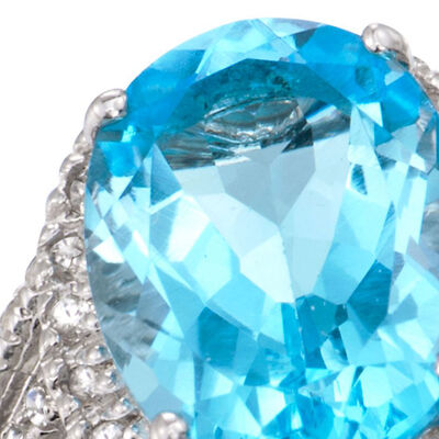 Under $100. Image Featuring Blue Gemstone Ring