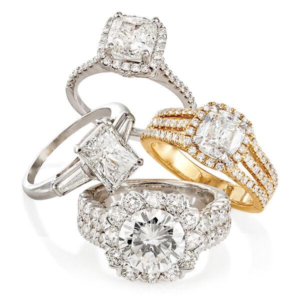Four Diamond Engagement Rings