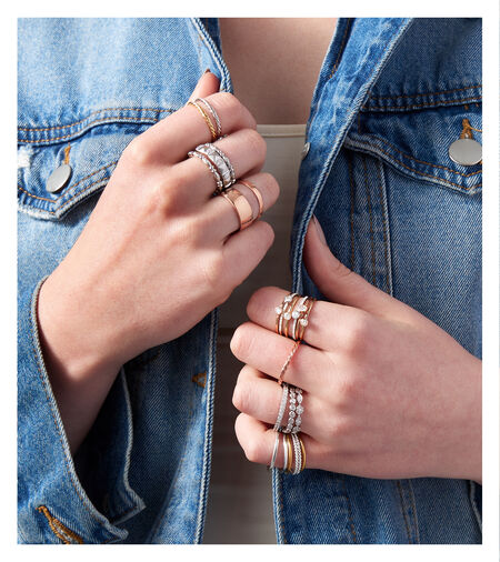 How to Stack Rings. Image Featuring Assorted Stacking Rings