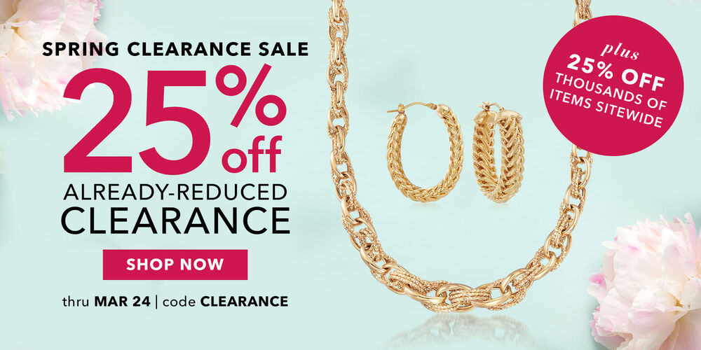 25% off clearance + more