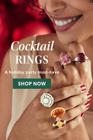 Cocktail Rings. A Holiday Party Must-Have. Shop Now