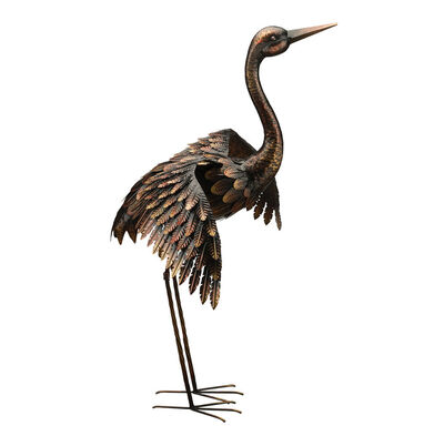 Outdoor. Image Featuring a Crane Bird for Outdoor Decorating