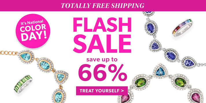 Totally Free Shipping. Flash Sale. Save Up To 66%. Treat Yourself. It's National Color Day! Image Featuring Color Gemstone Jewelry