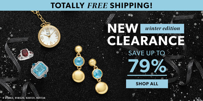 Totally Free Shipping! New Clearance Winter Edition. Save Up To 79%. Shop All. Image Featuring Assorted Jewelry on Back Confetti Background