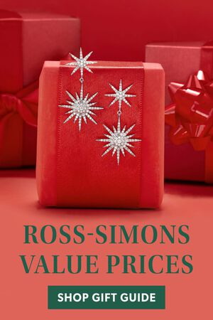 Ross-Simons Value Prices. Shop The Gift Guide. Image Featuring Diamond Earrings on a Red Present