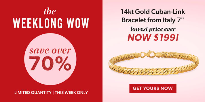 This Week's Big Deal 14kt gold bracelet from Italy