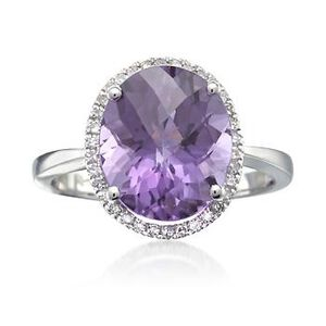 Amethyst and Diamond Ring #472881