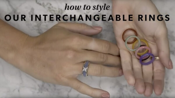 Interchangeable rings YouTube video.