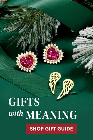 Gifts With Meaning. Shop Gift Guide. Image Featuring Assorted Jewelry