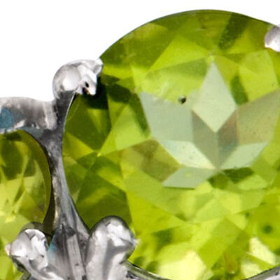 Gemstone Clearance. Image Featuring Peridot Gemstone Ring