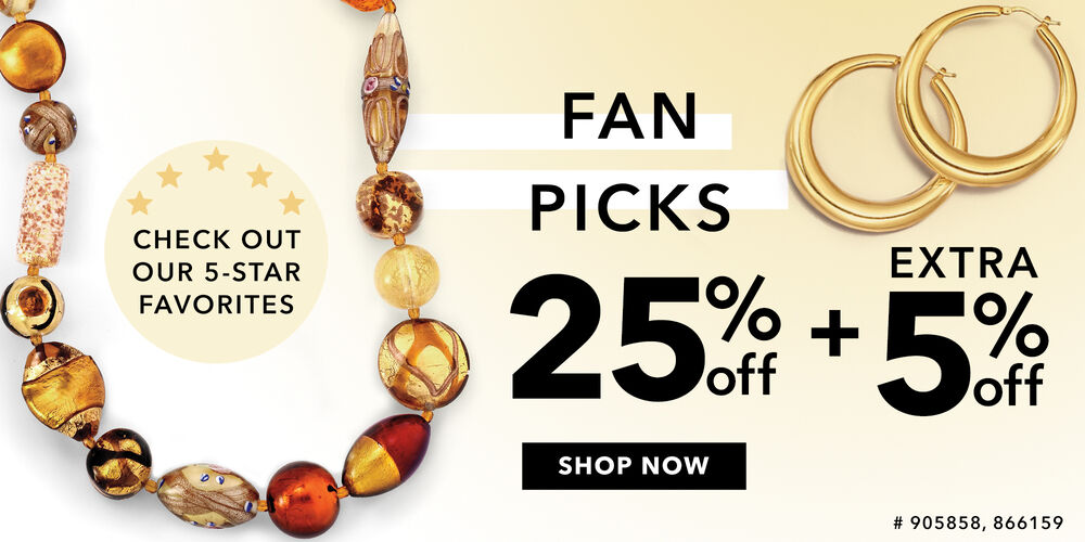 5-Star Fan Favorites! 25% + extra 5% off at checkout