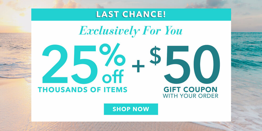 Ending Soon! 25% off now + $50 off later