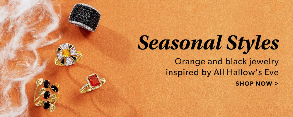 Seasonal Styles. Orange and Black Jewelry Inspired By All Hallow's Eve. Shop Now