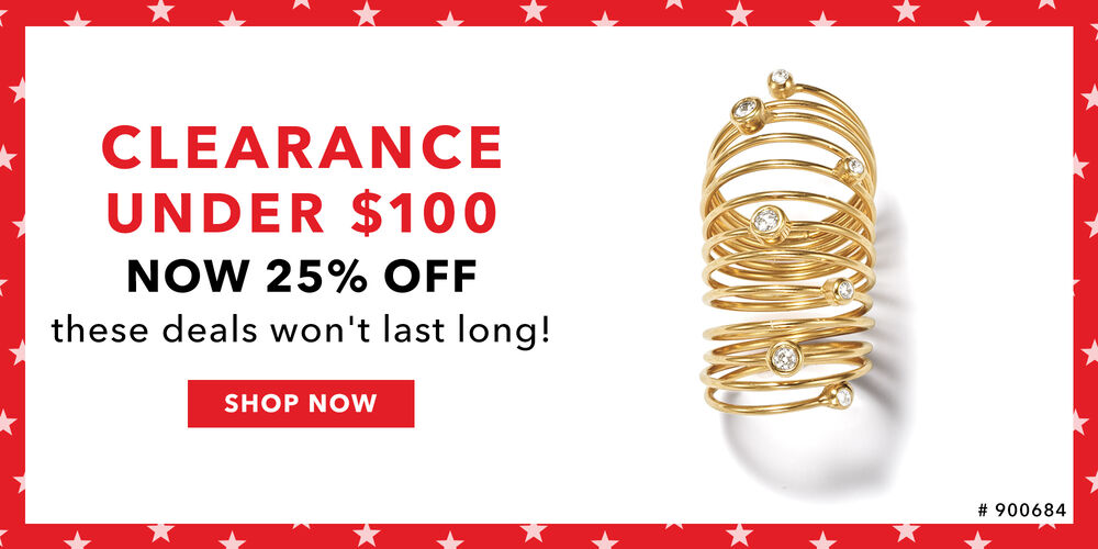 Save Even More! 25% off clearance under $100