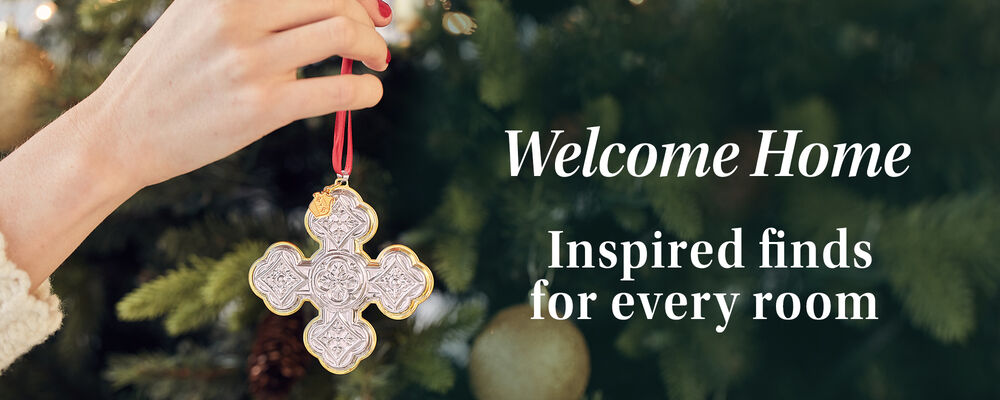 Welcome Home. Inspired finds for every room. Image of Christmas ornament.