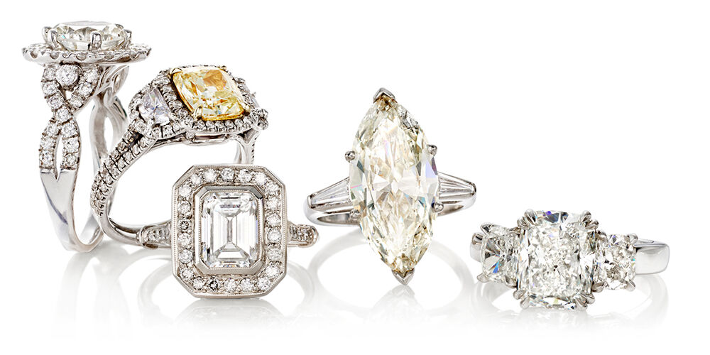 Five Rings From Our Majestic Diamonds Collection