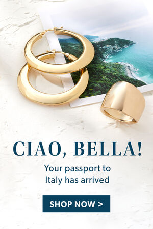 Ciao, Bella! Your passport to Italy has arrived. Shop Now.