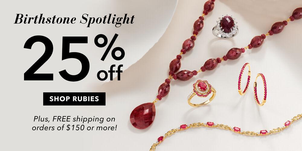 Birthstone Spotlight 25% off rubies for June