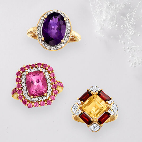 Party-ready gemstone rings! Shop Now
