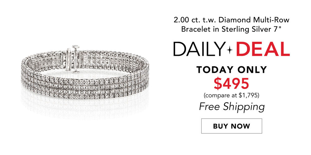 Daily Deal - Today Only! 2 ct. t.w. diamond bracelet