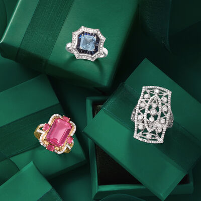 Party Gifts. Image Featuring 3 Cocktail Rings