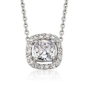 1.85 ct. t.w. CZ Pendant Necklace in Sterling Silver. #767294