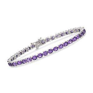 12.00 ct. t.w. Amethyst Tennis Bracelet in Sterling Silver. #821590