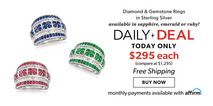 Daily Deal – Your Pick! Gemstone & diamond rings, $295