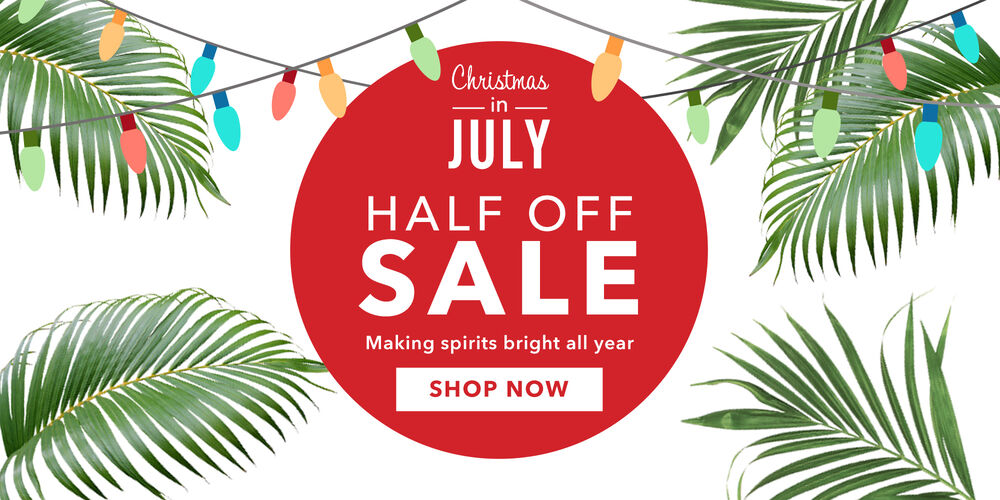 Christmas in July! Unwrap 50% off select items