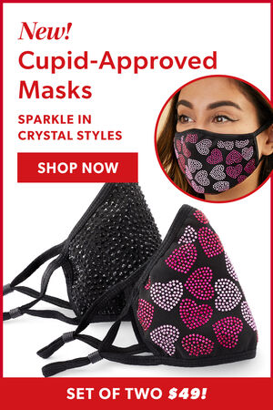 Sparkling Jeweled Masks. Stay Safe In Style! Shop Now. Set Of Two $49!