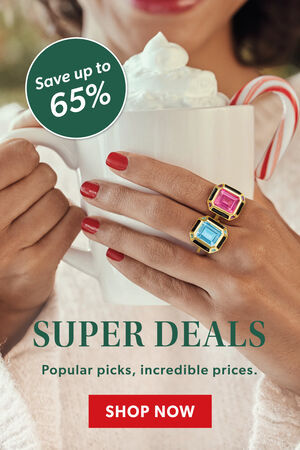 Super Deals. Save Up To 65%. Popular Picks, Incredible Prices. Shop Now. Image Featuring Model Hand With Gemstone Rings.