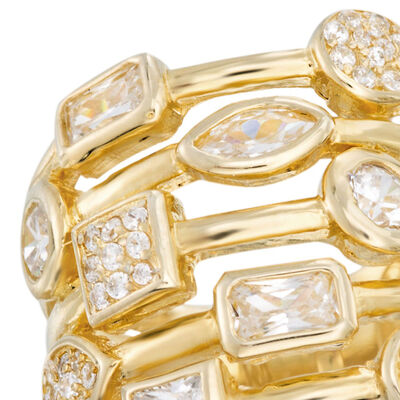 Clearance Rings. Image Featuring Diamond Gold Ring