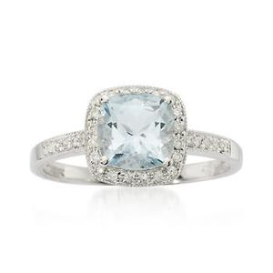 Aquamarine and Diamond Ring #467183
