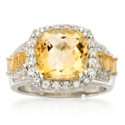 November Citrine. Image Featuring Citrine Ring