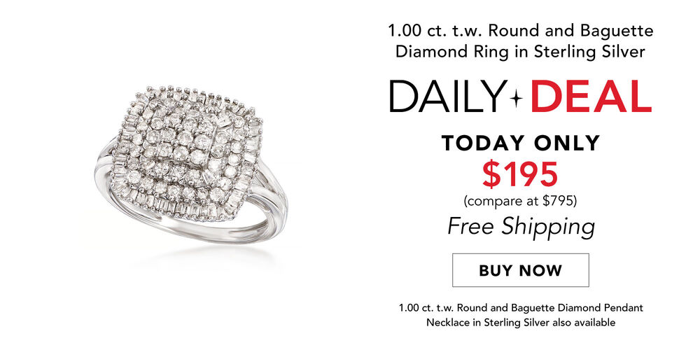 Daily Deal - Only $195 Dazzling diamond ring