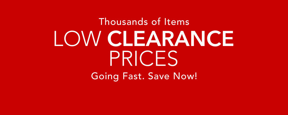 Low Clearance Prices