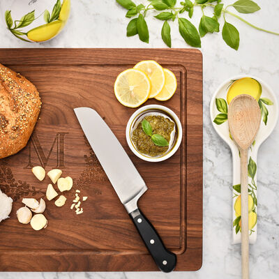 Kitchen Essentials. Image Featuring Cutting Board and Knife