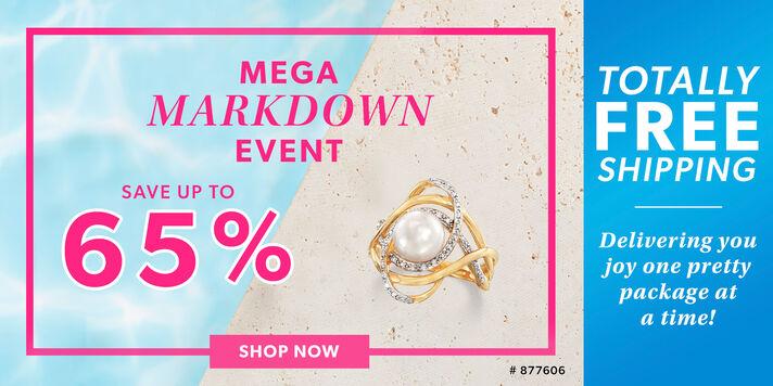 Mega Markdown Event Savings up to 65%