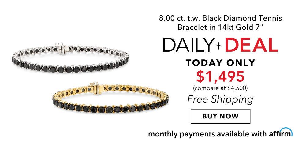Black Diamond Daily Deal Bold 8 carat tennis bracelet