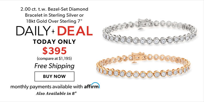 Daily Deal – Just $395 2 ct. bezel-set diamond bracelet