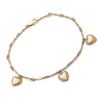 Children's Bracelets. Image Featuring Child's Bracelets with Heart Charms