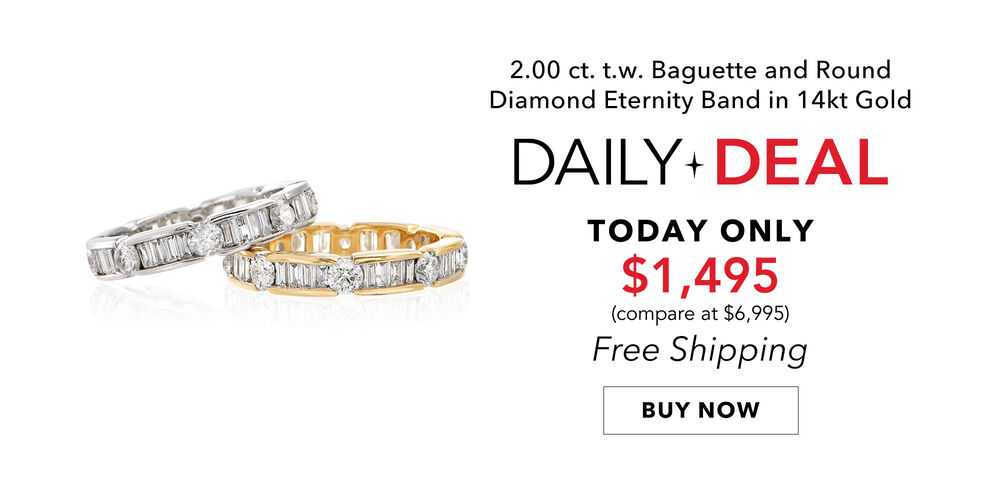 2 Carat Daily Deal Dazzling diamond eternity band