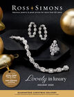 Catalog Cover : Ross-Simons Lovely In Luxury Holiday 2020 -- image featuring Diamond Jewelry on Black Background with Gold Ornaments