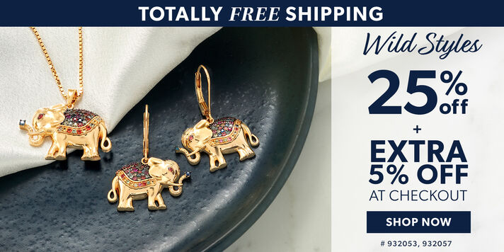 Totally Free Shipping. Wild Styles. 25% Off + Extra 5% Off At Checkout. Shop Now. Image Featuring Elephant Jewelry. 932053, 9320557