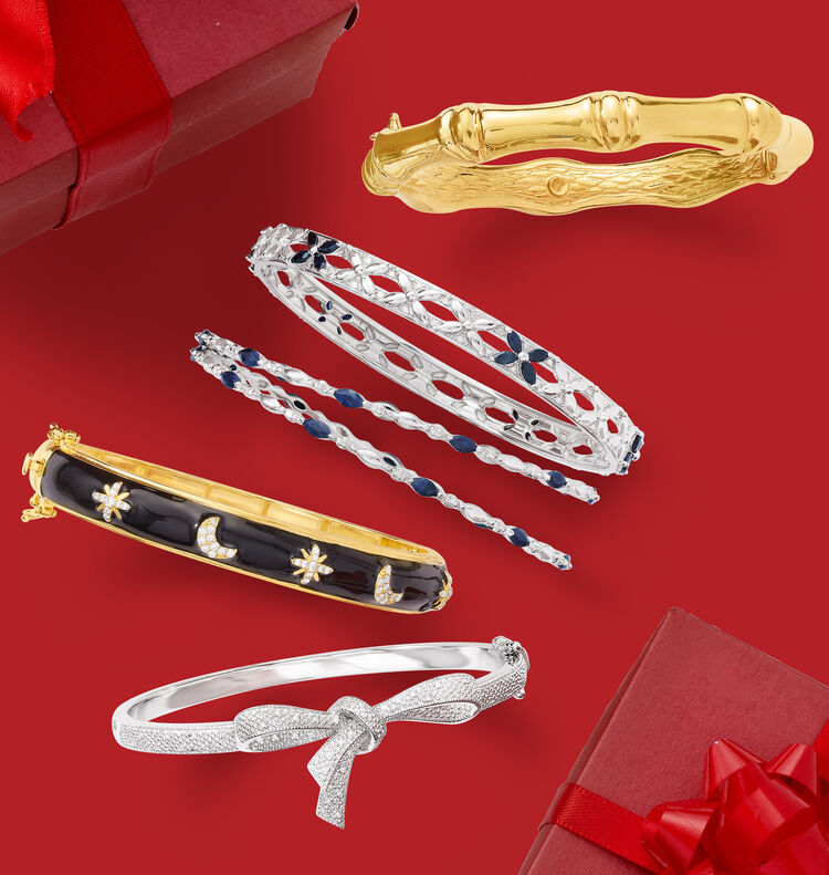 Best Selling Gifts. Image Featuring several bracelets on red background