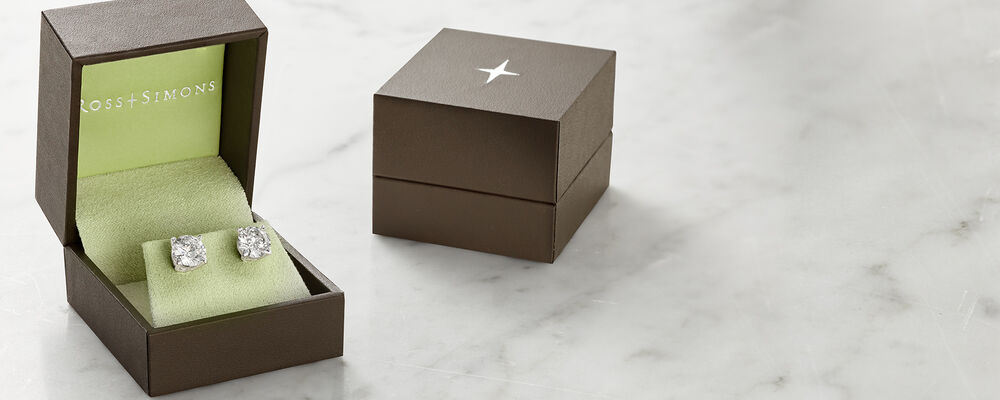 Gifts. For Meaningful Moments. Image Featuring Diamond Stud Earrings 487114 in a gift box