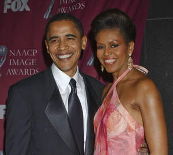 First Lady Michelle Obama and the President