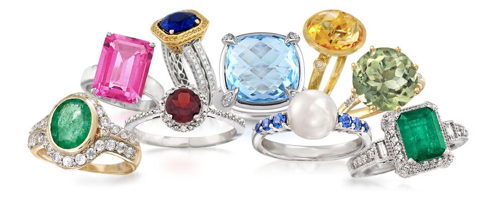 9 Various Non-Diamond Engagment Rings