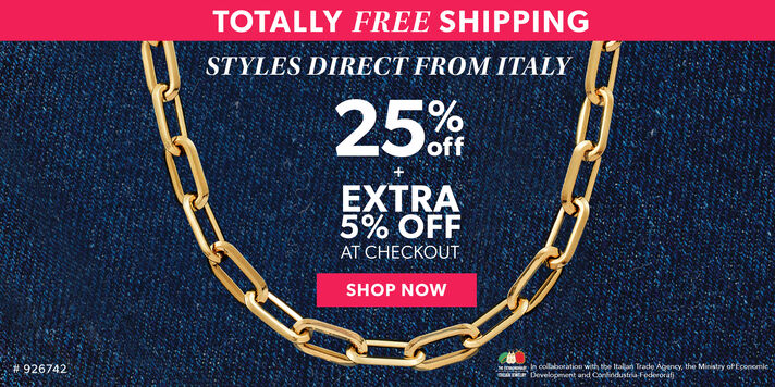 Totally Free Shipping. Styles Direct From Italy. 25% Off + Extra 5% Off At Checkout. Shop Now. Image Featuring Gold Paperclip Necklace 926742