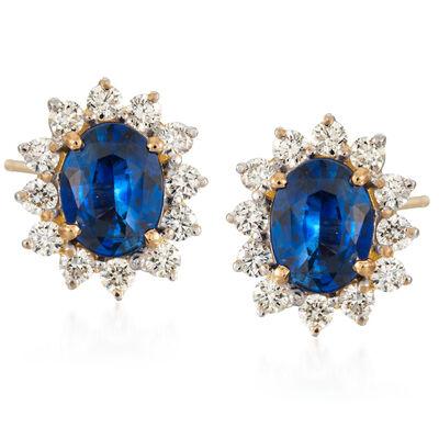 Estate Sapphire Earrings